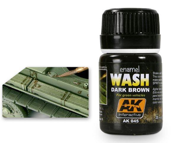 DARK BROWN WASH FOR GREEN VEHICLES