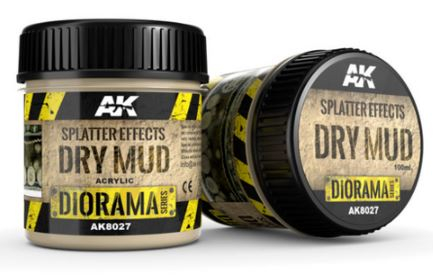 Splatter Effects Dry Mud