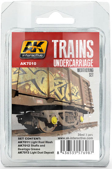 Weathering Set Trains Undercarriage