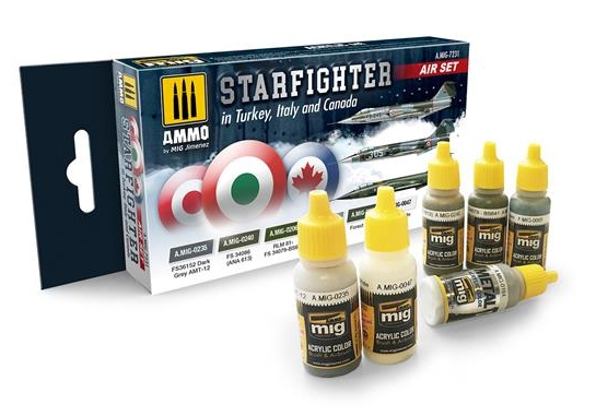 STARFIGHTER IN TURKEY, ITALY AND CANADA paint set