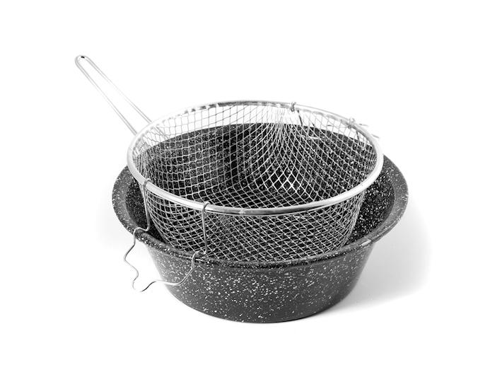 Friggitrice in ferro con cestino cm26