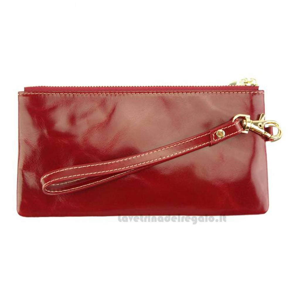 Portafoglio donna Rosso in pelle - Anastasia - Pelletteria Fiorentina