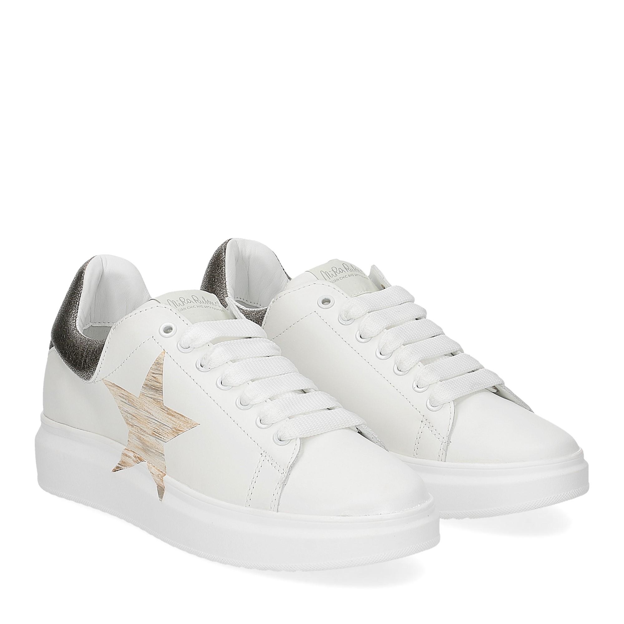 Nira Rubens Angel ALST32 sneaker stella white gold