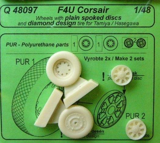 F4U CORSAIR WHEELS (PLAIN