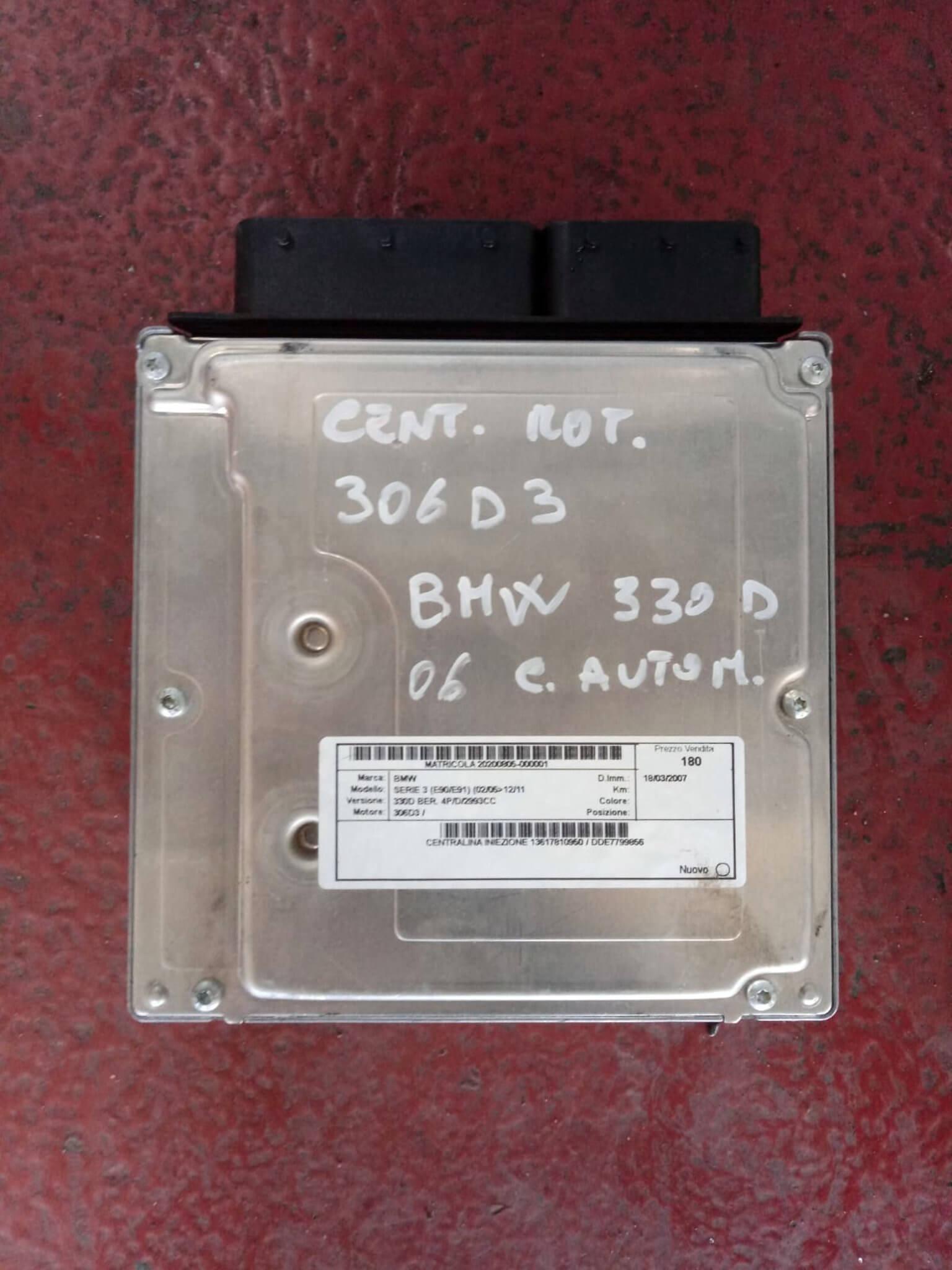 Centr. Iniez. usata BMW Serie 3 330D  cod. DDE 7799856 - 0281012707