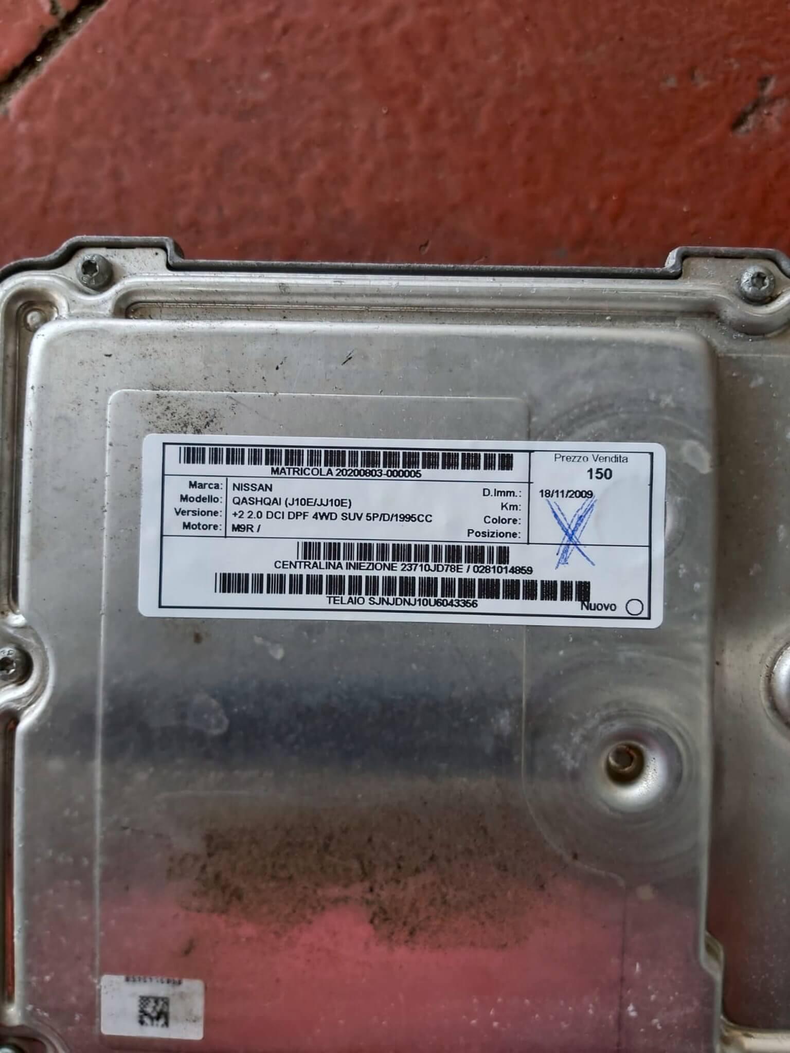 Centr. Iniez. usata Nissan Qashqai +2 2.0 DCI cod. 23710JD78E