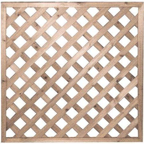 Pannello in legno grigliato 90x90cm