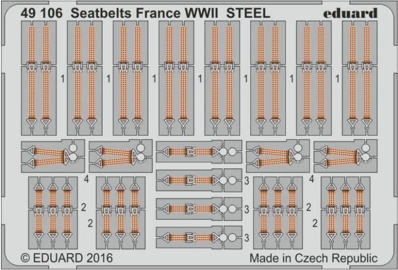 FRANCE CINTURE DI SICUREZZA  WWII STEEL
