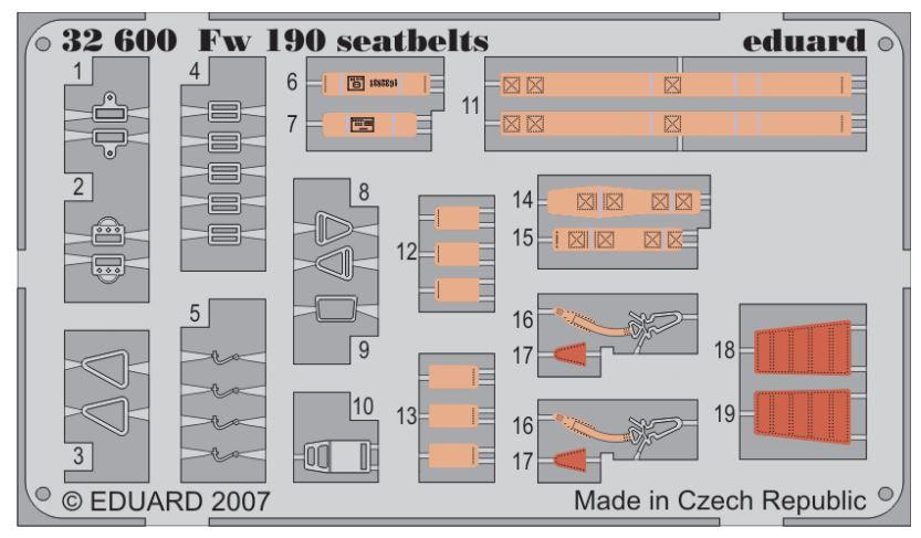 FW 190 SEATBELTS