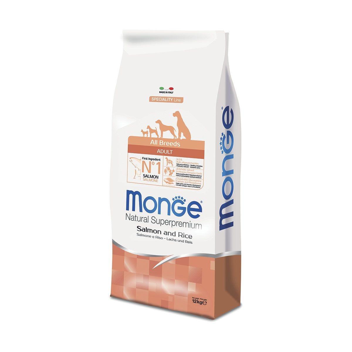 MONGE ALL BREED ADULT MONOPROTEIN SALMONE E RISO