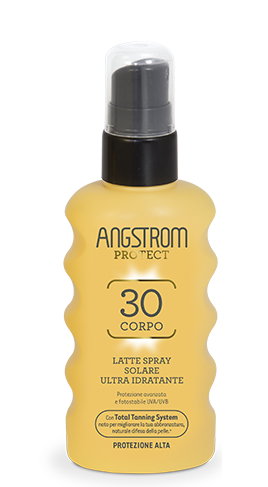 Angstrom Product spf 30 Latte spray solare ultra idratante 175ml