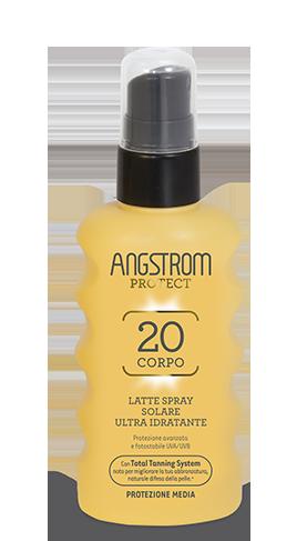 Angstrom Product spf 20 Latte spray solare ultra idratante 175ml