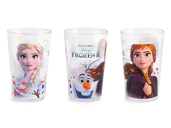 Bicchiere in plastica trasparente decoro Frozen2