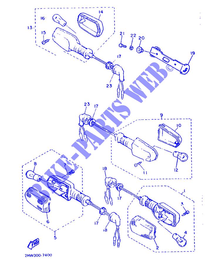 Vetro Freccia Yamaha TDM/XJR/FZR/FZ