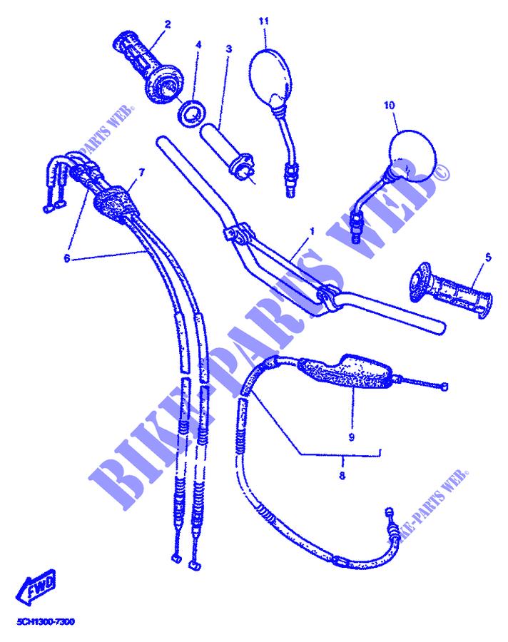 Tubo Comando Gas Yamaha TT600R/TT E/TT RE/SZR