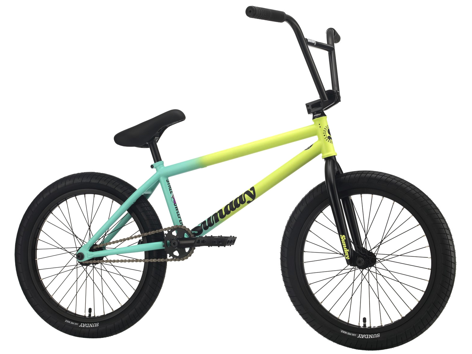 Sunday Street Sweeper 2021 Bici Bmx | Colore Green Fade