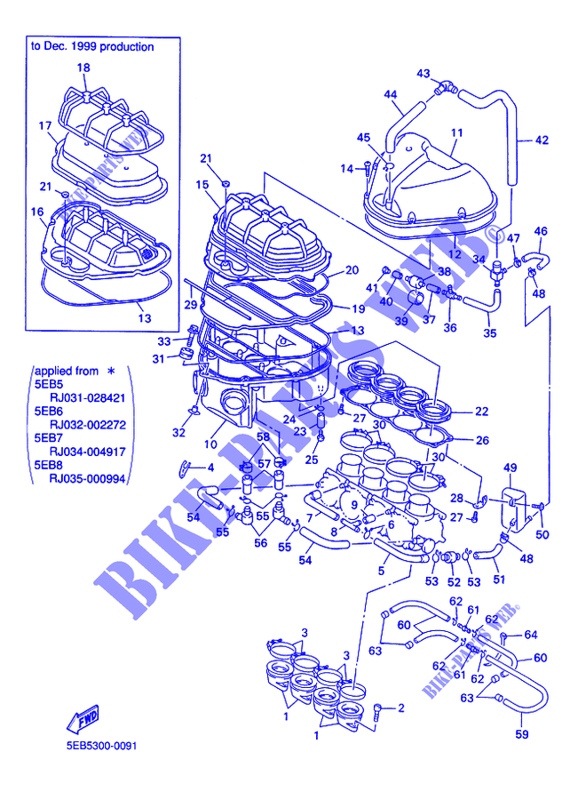 Guarnizione Coperchio Frizione Yamaha YZF-R6