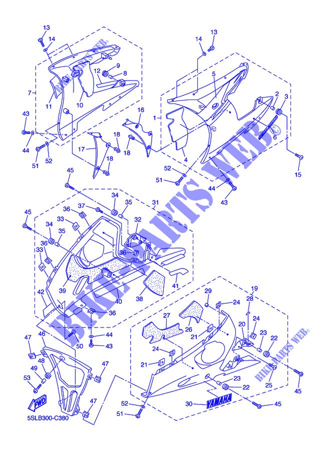 Pannello SX Yamaha YZF-R6/R46