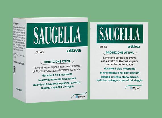 SAUGELLA® ATTIVA SALVIETTE INTIME confezione da 10