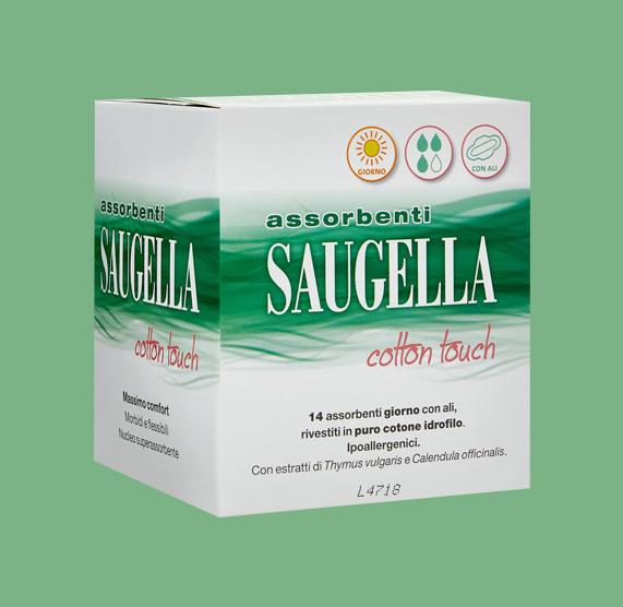 SAUGELLA® COTTON TOUCH ASSORBENTI ESTERNI Confezione da14