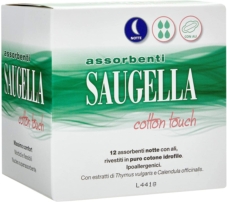 Saugella Cotton Touch Assorbenti Notte 12 pezzi