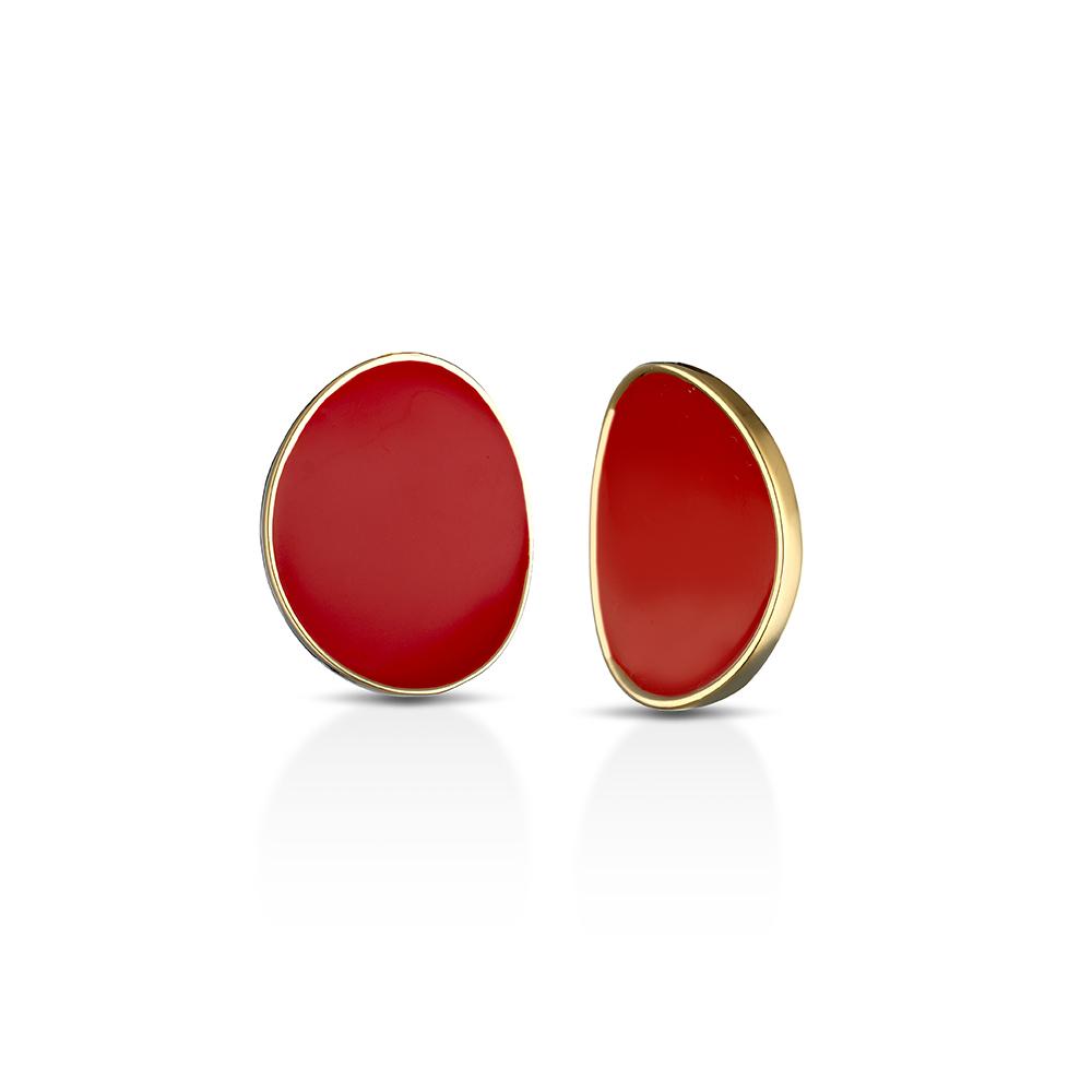 MEWO, Enameled Medium Earrings