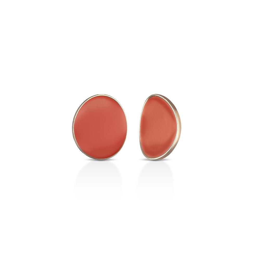 MEWO, Enameled Small Earrings