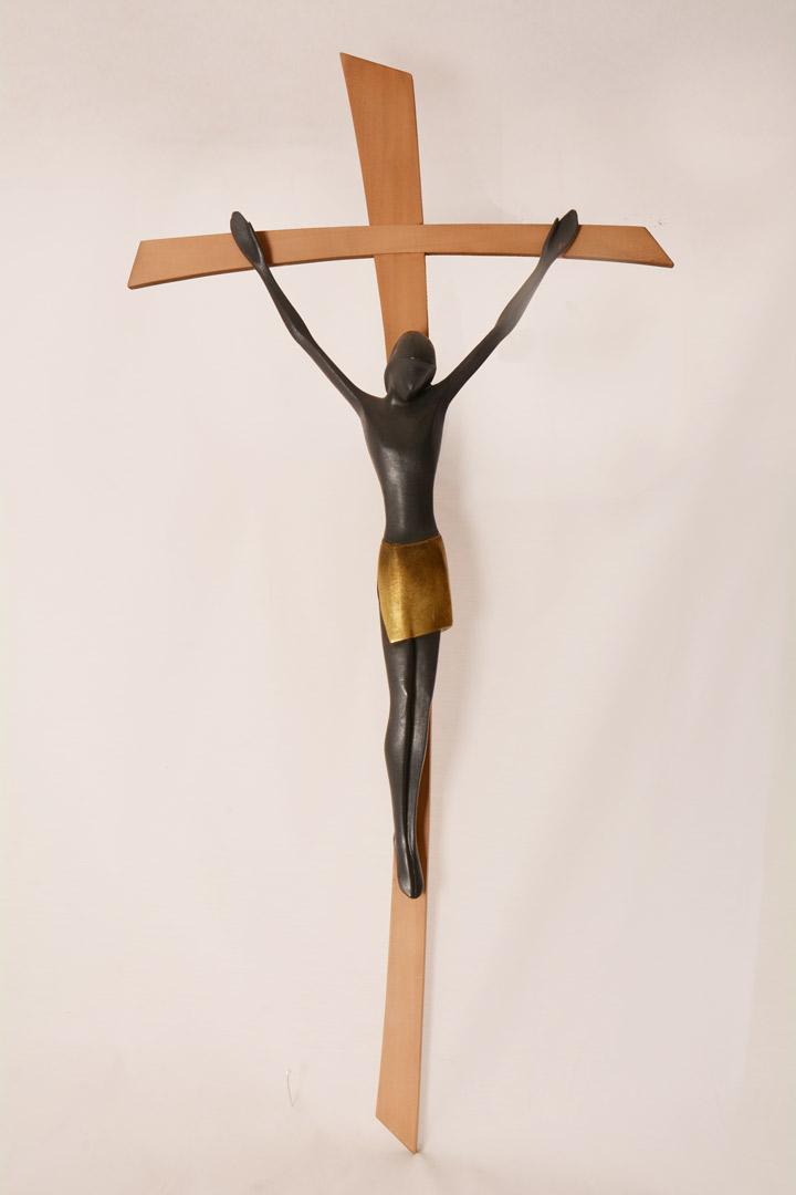 Crocefisso in legno cm 80