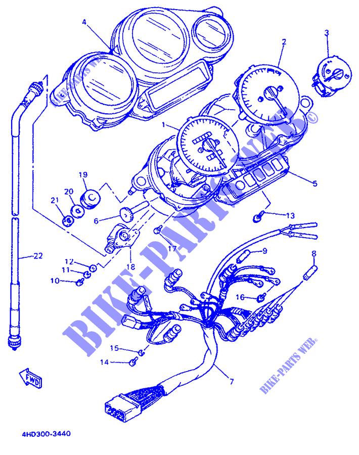 Cavo Tachimetro Yamaha YZF-R7/YZF-R7 SP/XJ-S Diversion/FZR