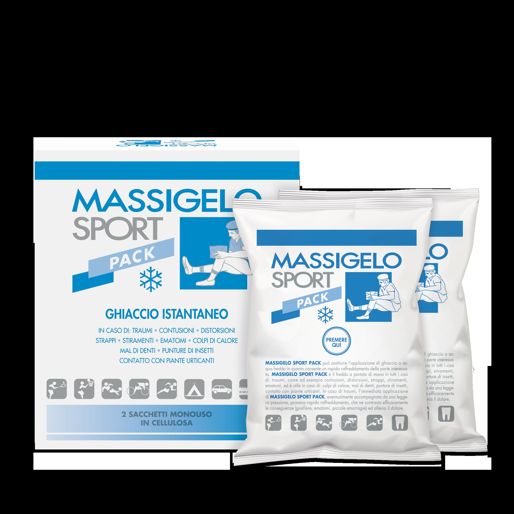 Massigen Massigelo Sport Pack Ghiaccio Istantaneo 2 Buste