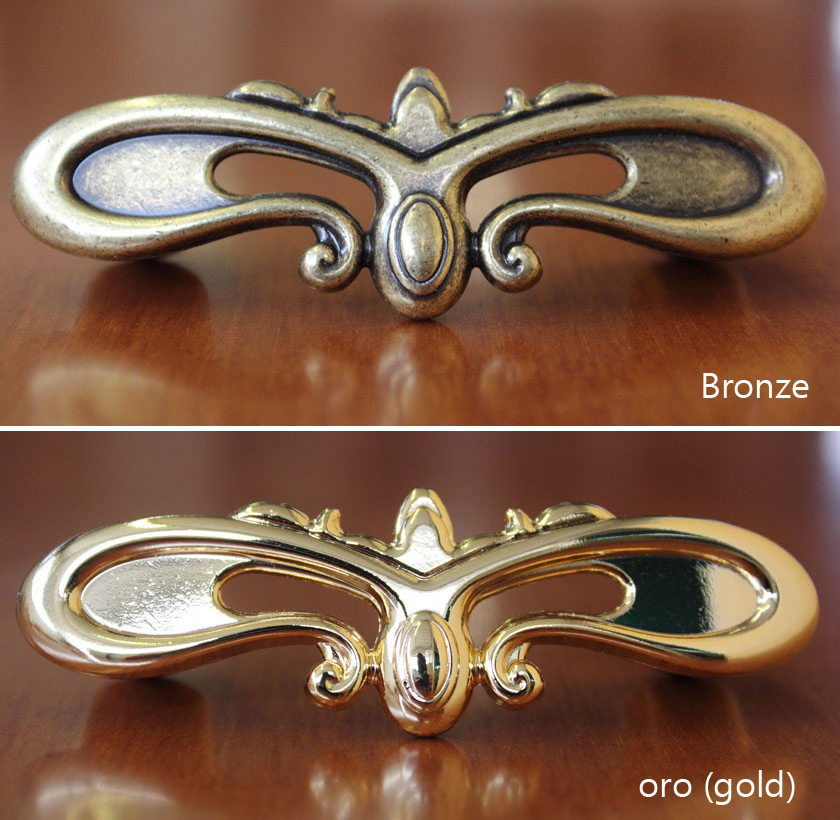 Butterfly handle bronzed and golden