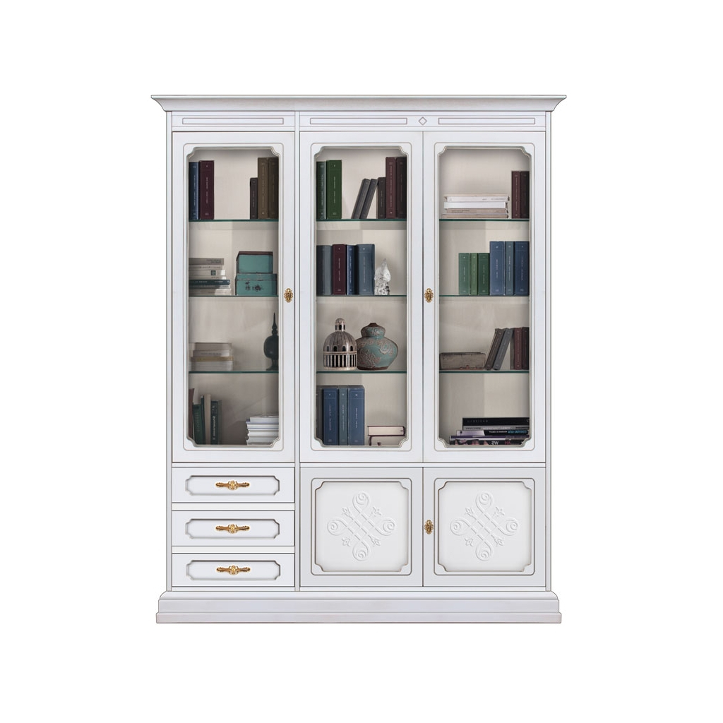 bookcase, wooden bookcase, elegant display cabinet, display cabinet, wooden furniture, living room furniture, living room display cabinet, lacquered cabinet, classic style, classic display cabinet