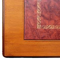 Red bordeaux leather on desk sku. 107
