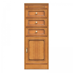 Multi-purpose cabinet 3 drawers, modular cabinet, wooden narrow cabinet, made in italy
