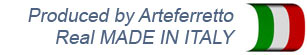 Poduced by Arteferretto Real MADE IN ITALY