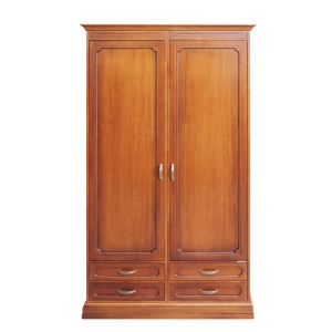 storage wardrobe in wood, wooden wardrobe, bedroom wardrobe, tall wardrobe, Arteferretto furniture, bedroom furniture