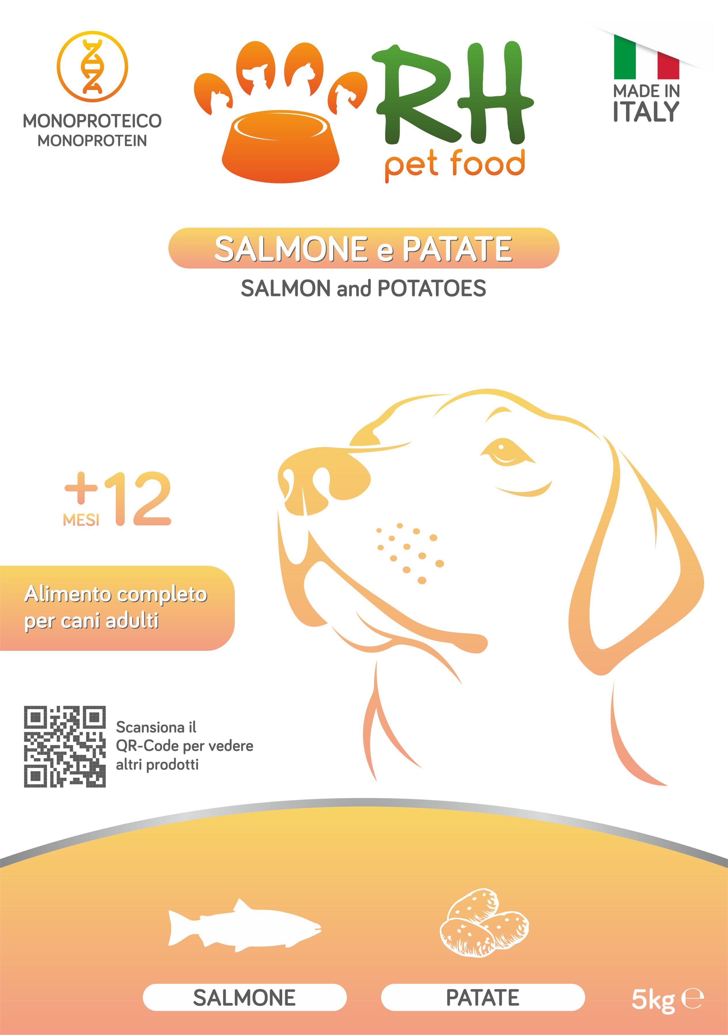 Salmone e Patate monoproteico Low Grain