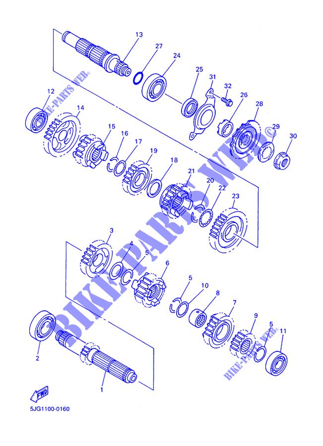 Ingranaggio Condotto 2A Yamaha YZF-426F