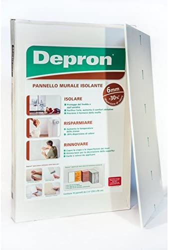 PANNELLO ISOLANTE DEPRON CM 80X125 MM 6 - PZ. 20