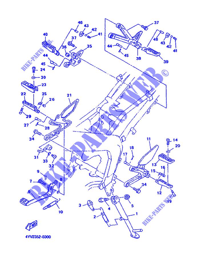 Gomma Pedana DX/SX Yamaha TZR-RR/TZR/SZR