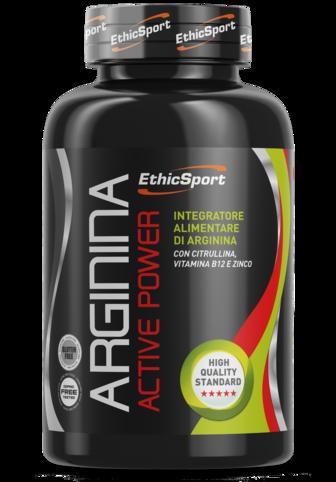 EthicSport Arginina Active Power Barattolo Da 90 Cpr Da 1500 mg
