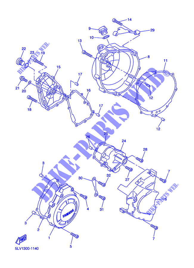 Guarnizione Coperchio Frizione Yamaha YZF-R1/Fazer
