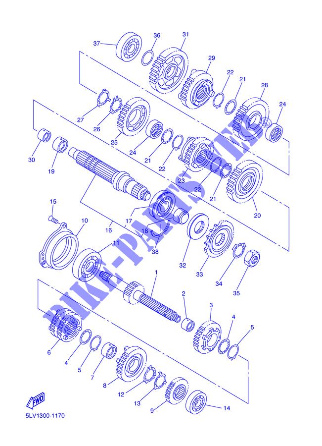 Distanziale Yamaha TDM/FZS Fazer/YZF-R1