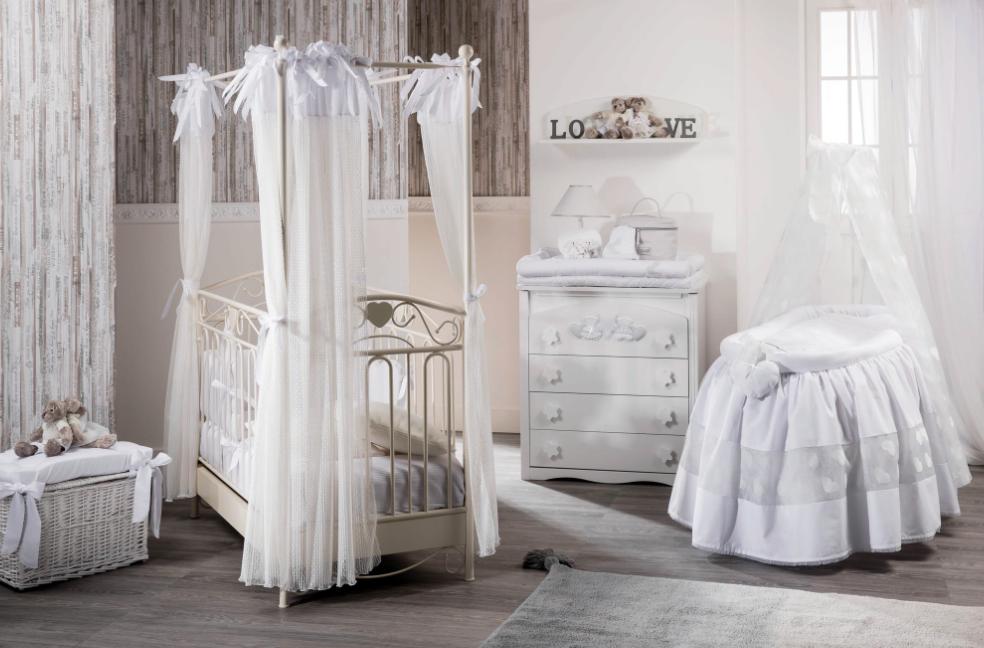 Cameretta Completa  in Stile provenzale con letto in ferro battuto | linea Nanny by Picci