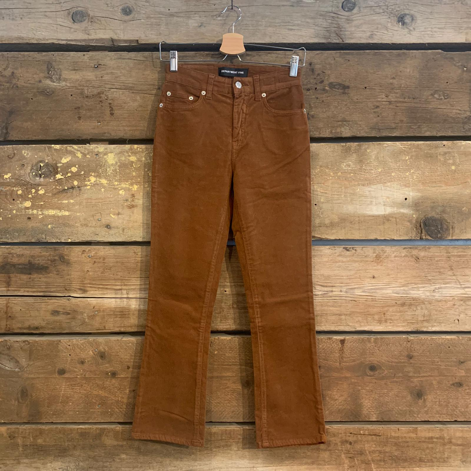 Jeans Department 5 Clar in Velluto a Costine Marrone