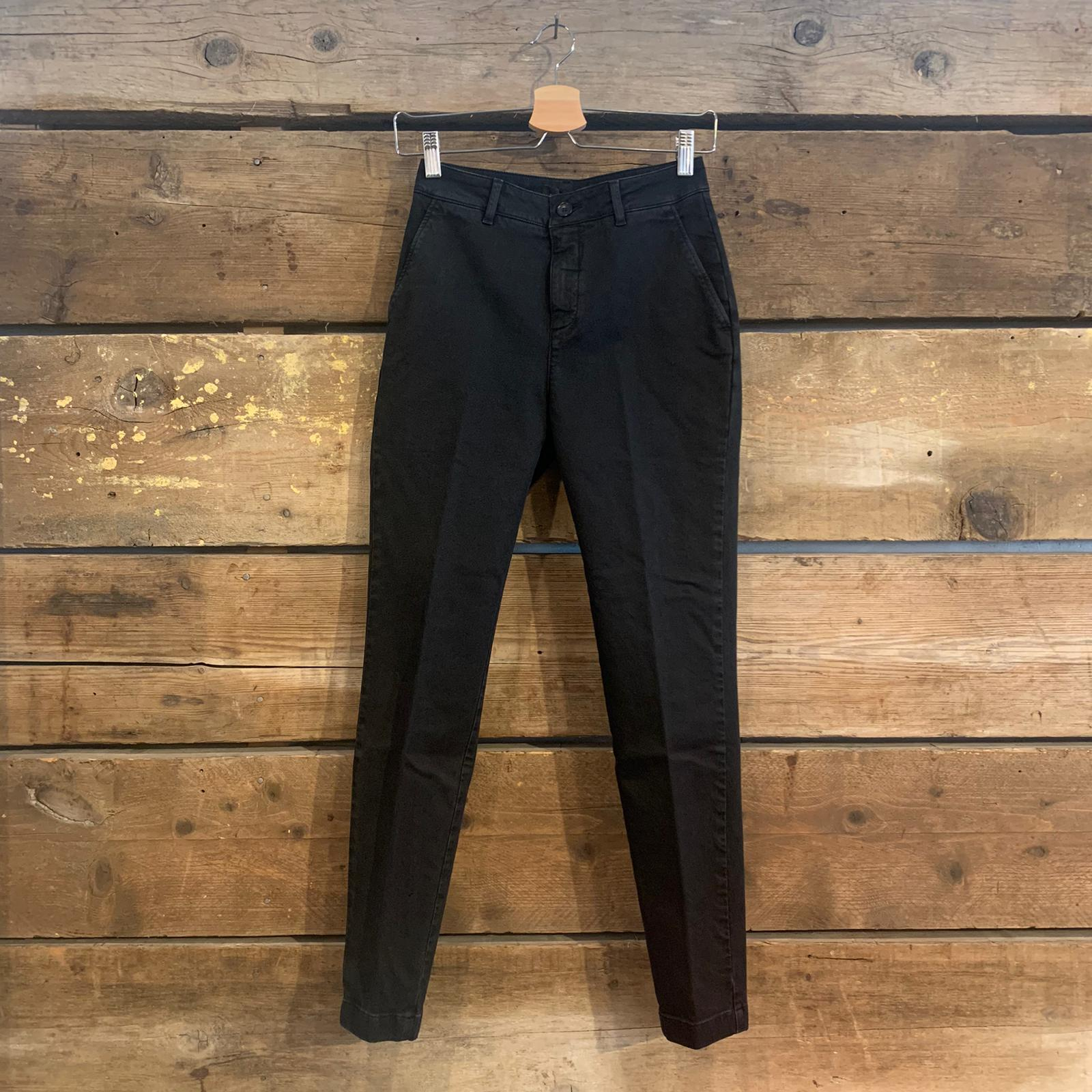 Pantalone Donna Department 5 Puff in Cotone Slavato Nero