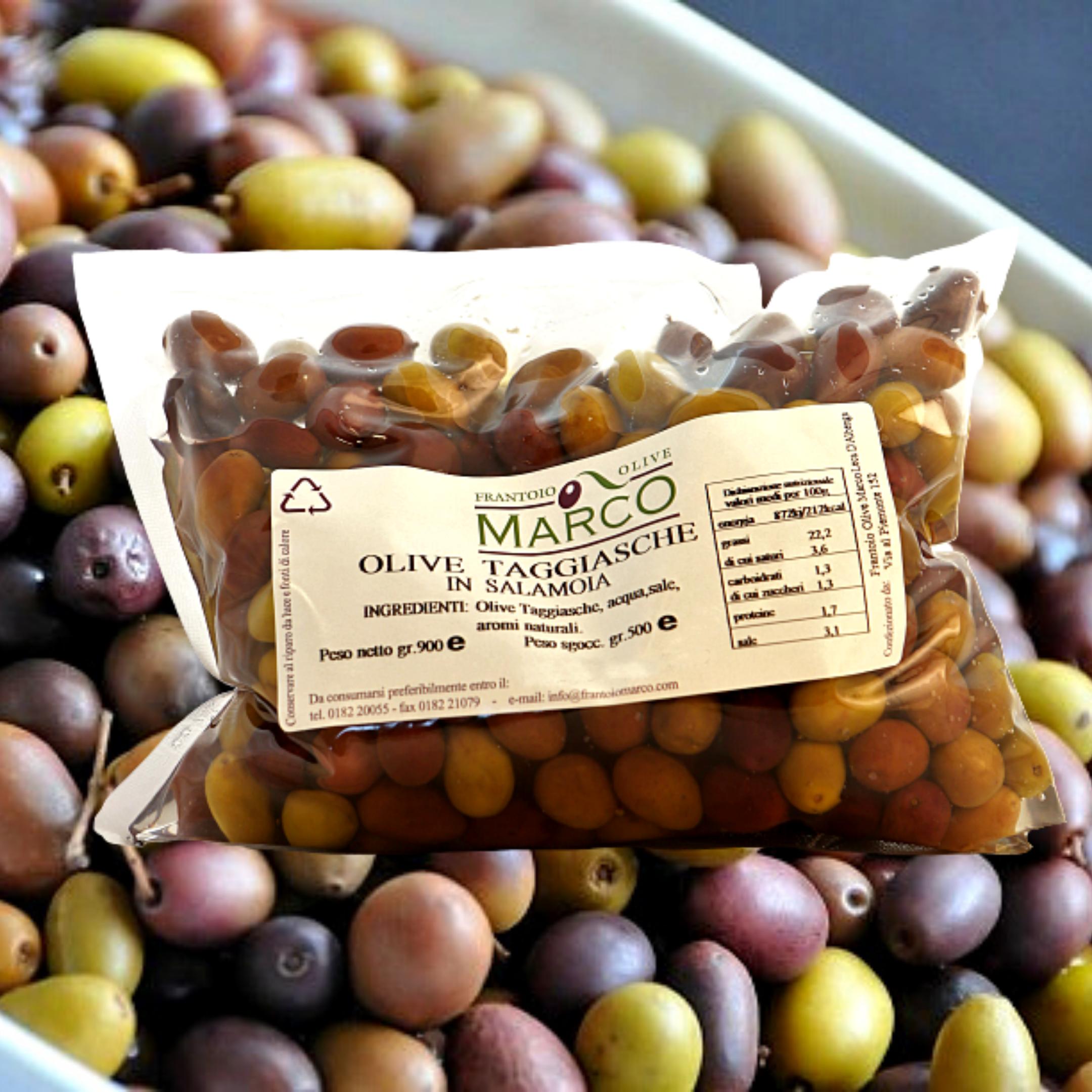 Olive taggiasche in salamoia in busta 500g