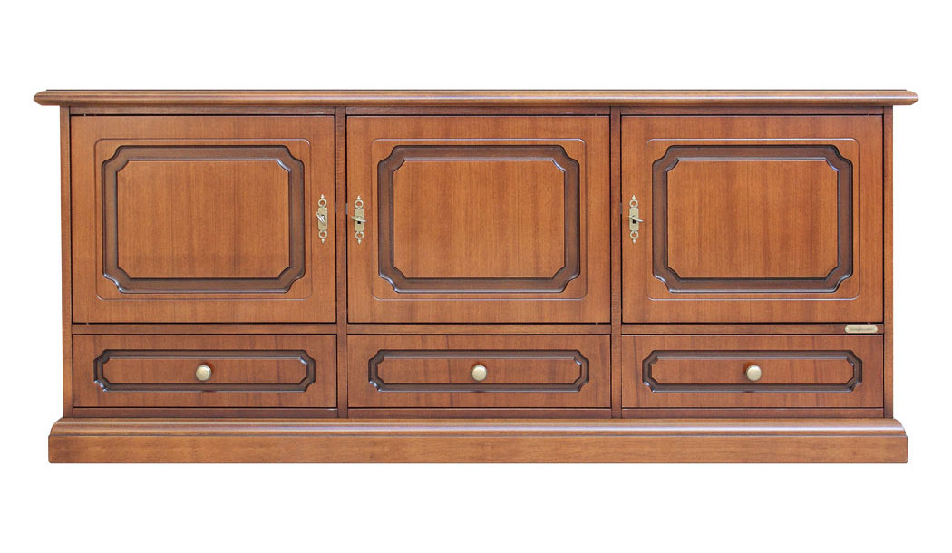 Niedriges Möbel 3 Türen 3 Schubladen