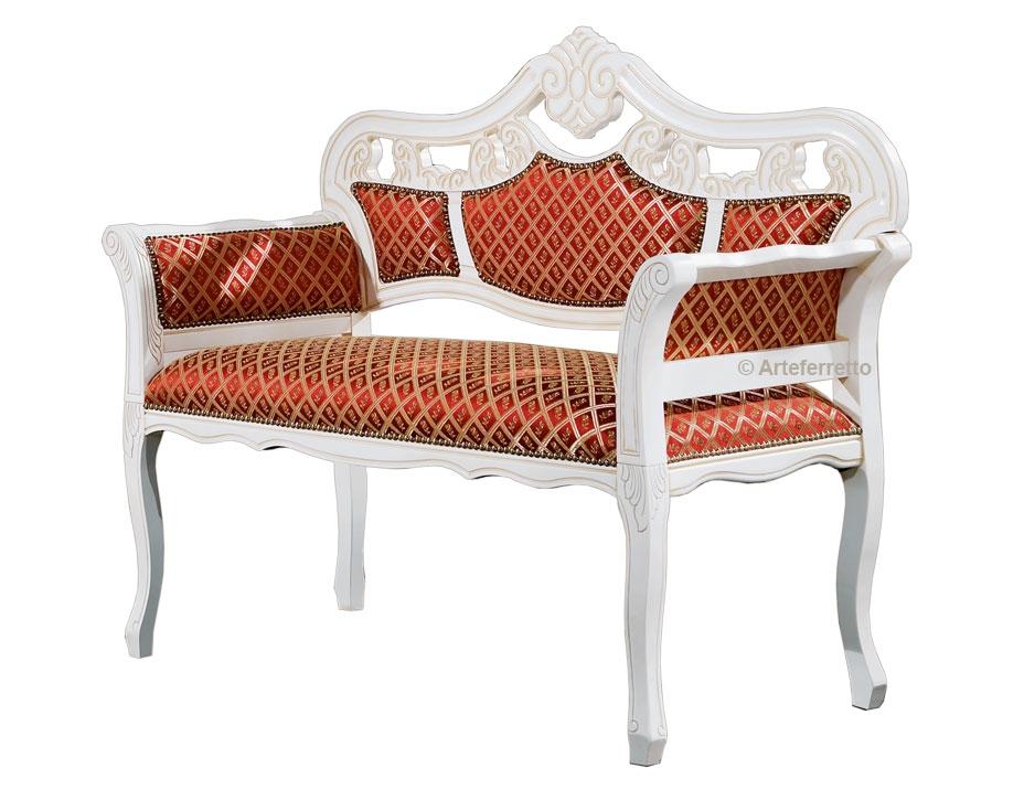 Kleines Sofa 2 Plätze im Stil