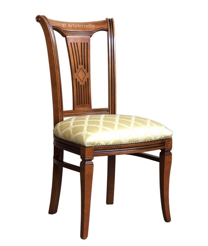 Chaise en bois massif assise rembourrée Asseoir-53